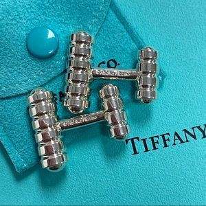 Tiffany & Co. Paloma Picasso 925 Grooved Cufflinks